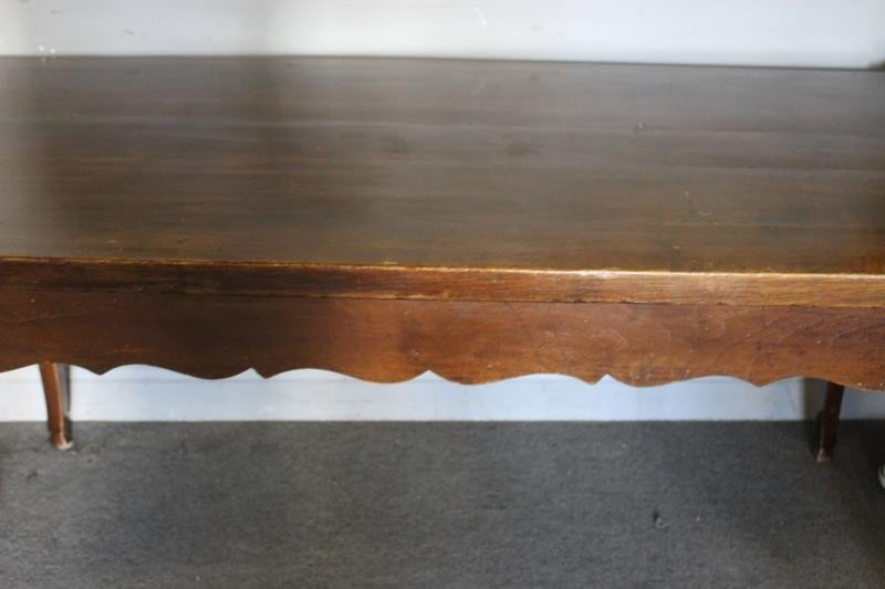 Antique French 2 Drawer Harvest Table. - 5
