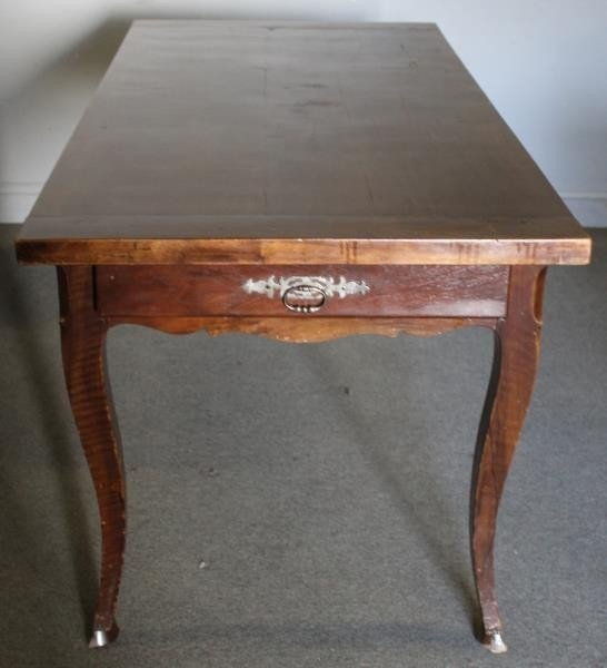 Antique French 2 Drawer Harvest Table. - 6