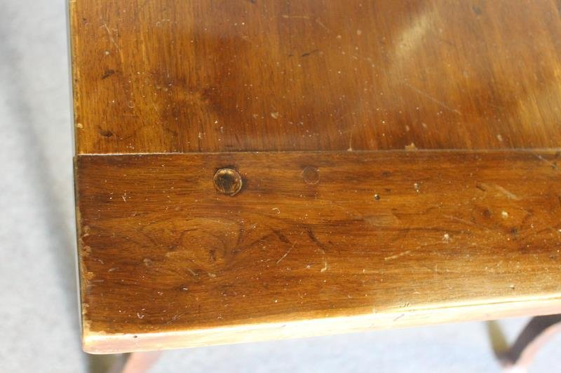Antique French 2 Drawer Harvest Table. - 7