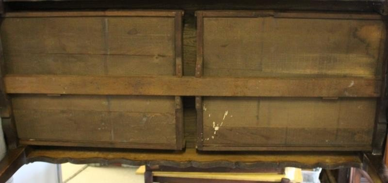 Antique French 2 Drawer Harvest Table. - 8