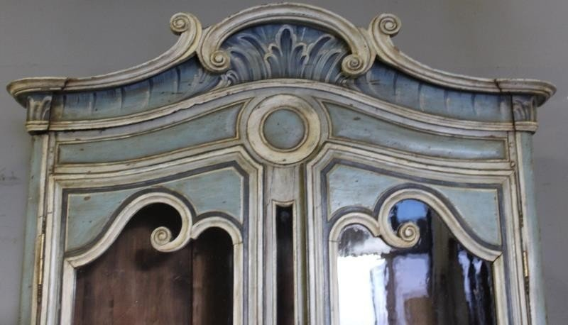 Antique Finely Painted French Provincial Cabinet. - 3