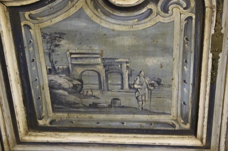 Antique Finely Painted French Provincial Cabinet. - 4
