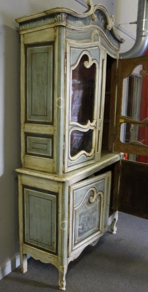 Antique Finely Painted French Provincial Cabinet. - 7