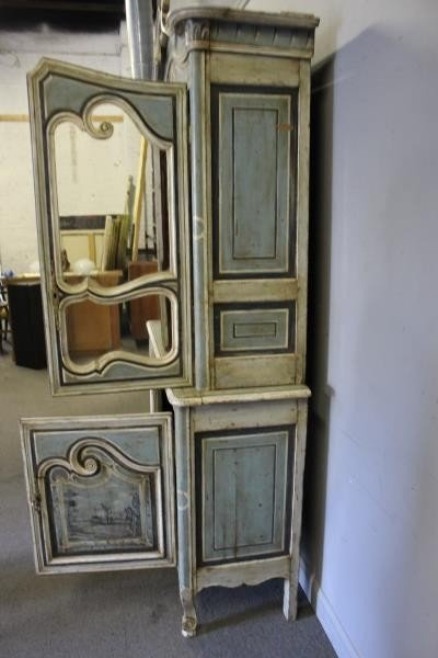 Antique Finely Painted French Provincial Cabinet. - 8