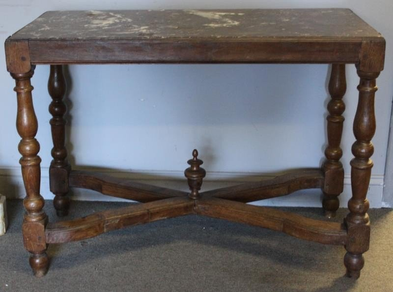 Antique Continental Marbletop Table.