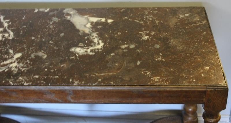 Antique Continental Marbletop Table. - 4