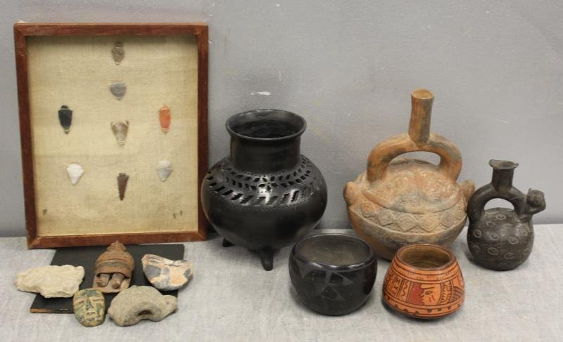 Lot of Assorted Antique Pottery Items To Inc ,