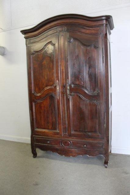 18 Century French Provincial 2 Door Armoire