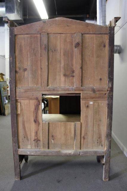 18 Century French Provincial 2 Door Armoire - 7
