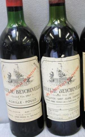 1966-1975 Bouscaut,Beychevelle,Corbin,Brown Wine. - 3
