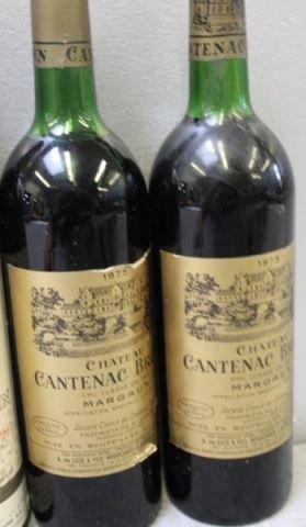1966-1975 Bouscaut,Beychevelle,Corbin,Brown Wine. - 6