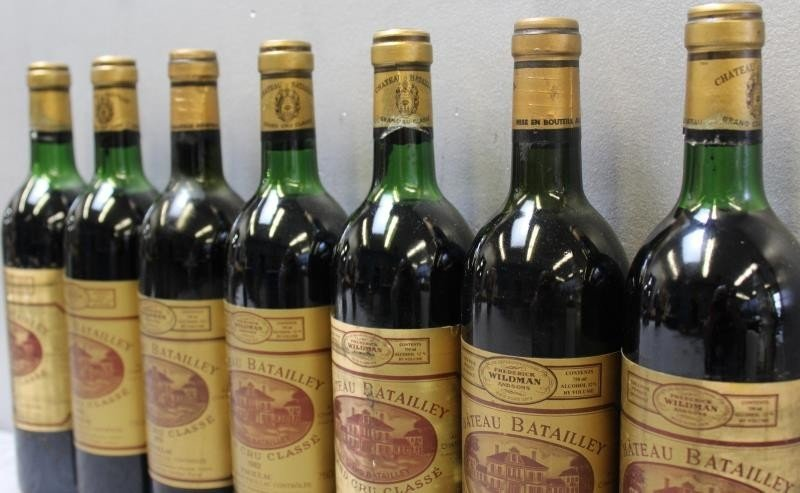 7 Bottles Chateau Batailley Grand Wine 1982. - 2