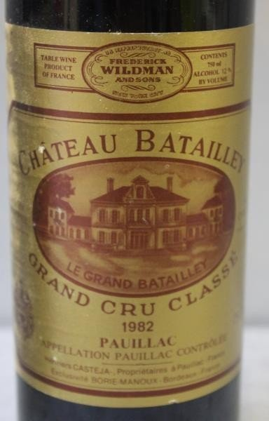 7 Bottles Chateau Batailley Grand Wine 1982. - 3