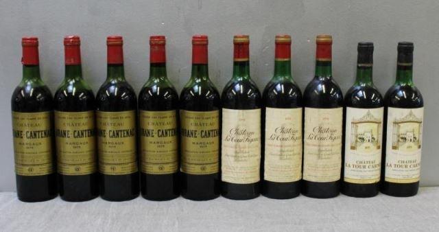 Chateau Brane,La Tour Carnet&Figeac 1975 1978 Wine