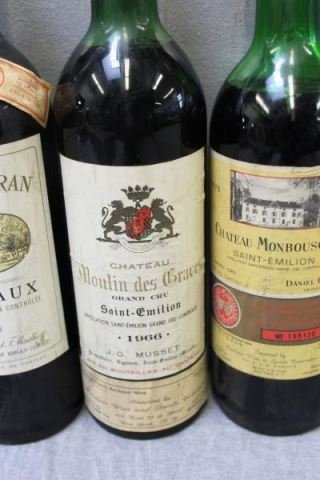 Mixed 5 Bottle Lot of French Wine 1966 & 1970. - 4