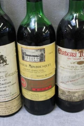 Mixed 5 Bottle Lot of French Wine 1966 & 1970. - 5