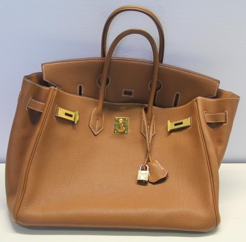 HERMES Gold Taurillon 35cm Birkin Bag. - 2