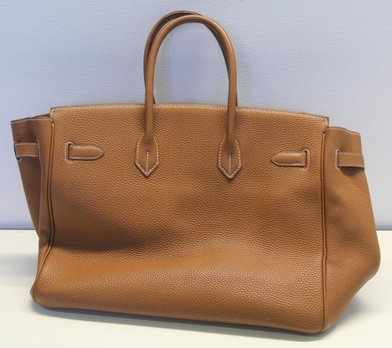 HERMES Gold Taurillon 35cm Birkin Bag. - 3