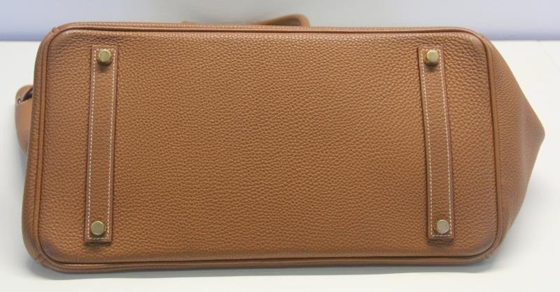 HERMES Gold Taurillon 35cm Birkin Bag. - 5