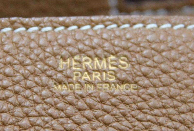 HERMES Gold Taurillon 35cm Birkin Bag. - 6