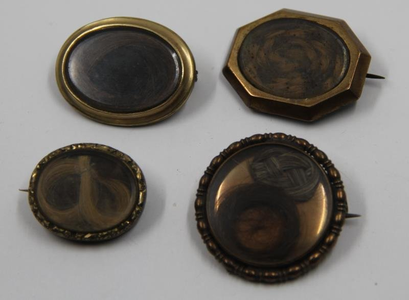 JEWELRY. Grouping of Victorian Mourning Jewelry. - 4