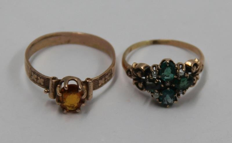JEWELRY. Assorted Grouping of Gold Rings. - 2