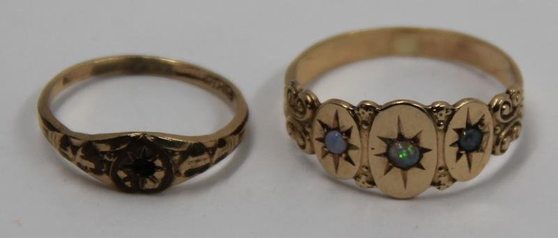 JEWELRY. Assorted Grouping of Gold Rings. - 4
