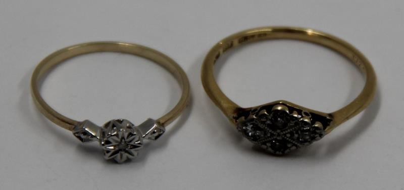 JEWELRY. Assorted Grouping of Gold Rings. - 6