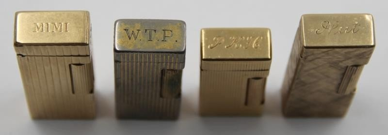 GOLD. Collection of 3 14kt Gold Dunhill Lighters. - 4