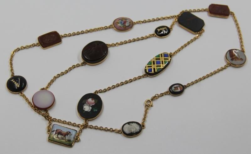 JEWELRY. Italian 18kt Gold Charm Necklace.