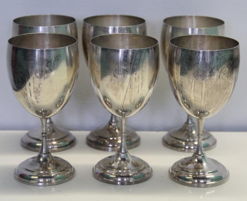 STERLING. Large Grouping of Assorted Cups and - 6