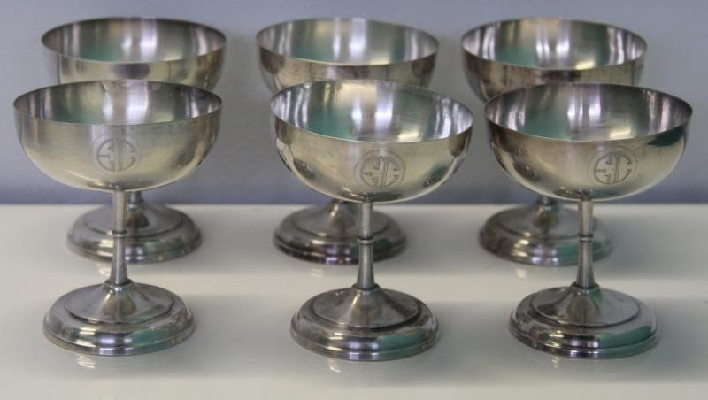 STERLING. Large Grouping of Assorted Cups and - 8