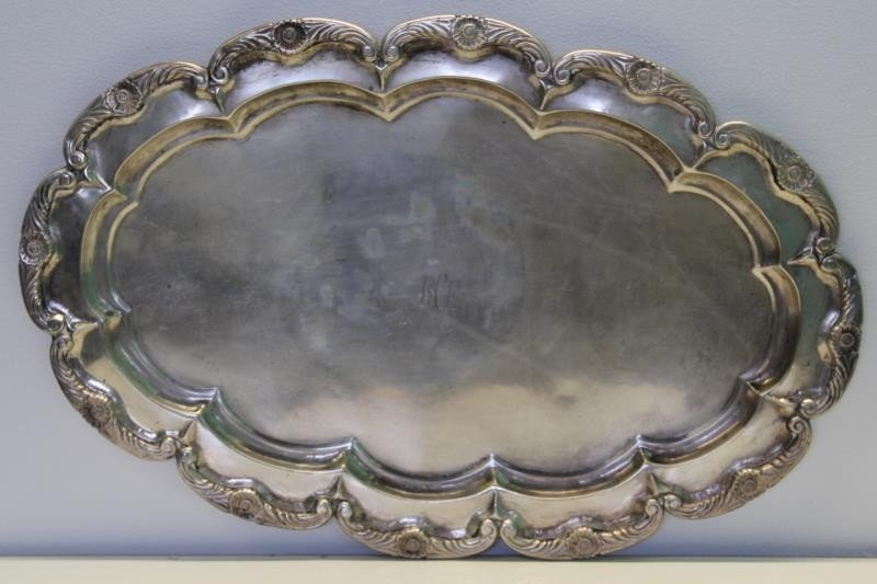 SILVER. Two .900 Silver Trays. - 2