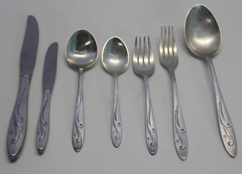 STERLING. Towle Awakening Flatware Service for 6. - 2