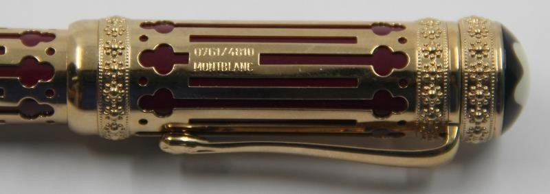 GOLD. Mont Blanc Catherine II the Great Pen. - 3