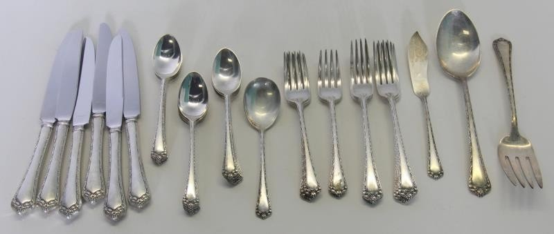 STERLING. Assorted Grouping of Flatware and - 5