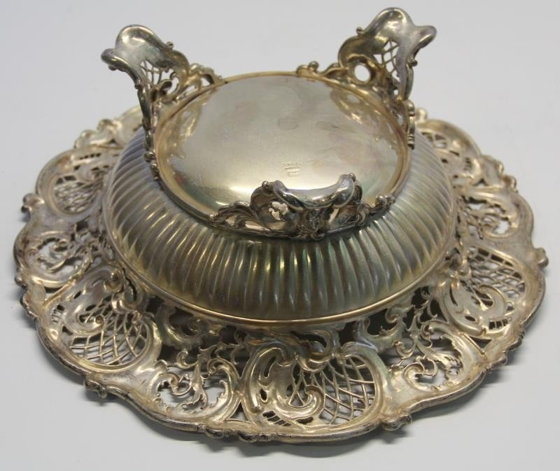 STERLING. Large Ornate Whiting Sterling Center - 7