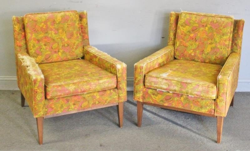 Midcentury Pair of Paul McCobb Style Lounge Chairs