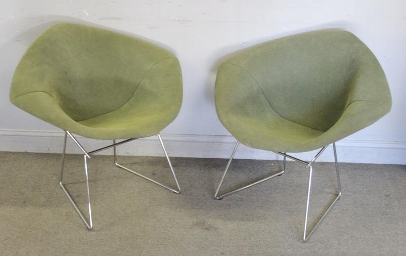 Pair of Harry Bertoia; Knoll Diamond Chairs. - 2