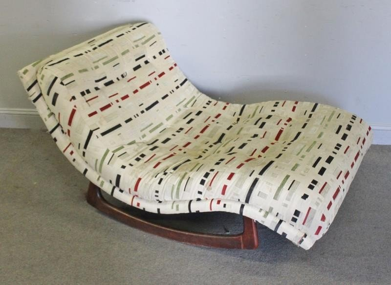 Midcentury Adrian Pearsall Wave Chaise Lounge.