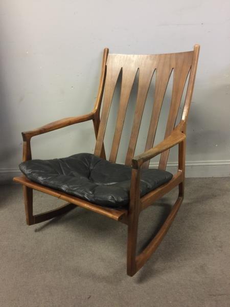 Midcentury Milo Baughman Rocking Chair.