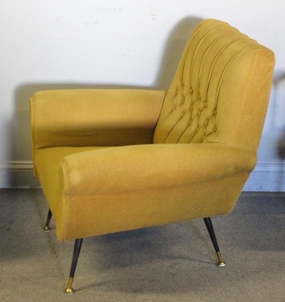 Pair of Green Midcentury Italian Lounge Chairs. - 2