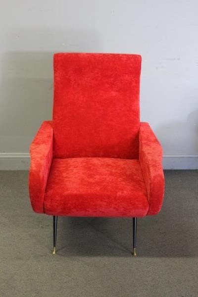 Pair of Modern Marco Zanuso Style Lounge Chairs. - 2