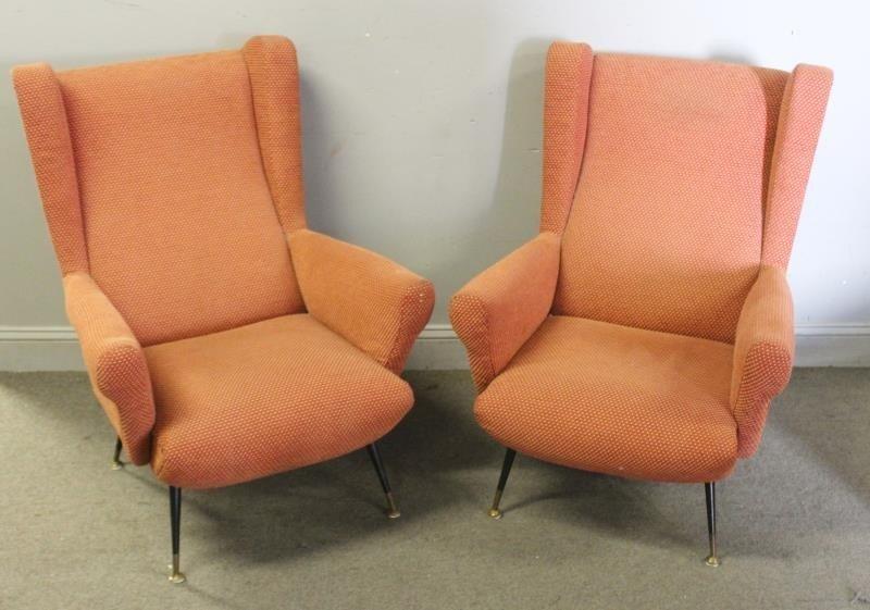 Pair of Midcentury Italian Lounge Chairs.