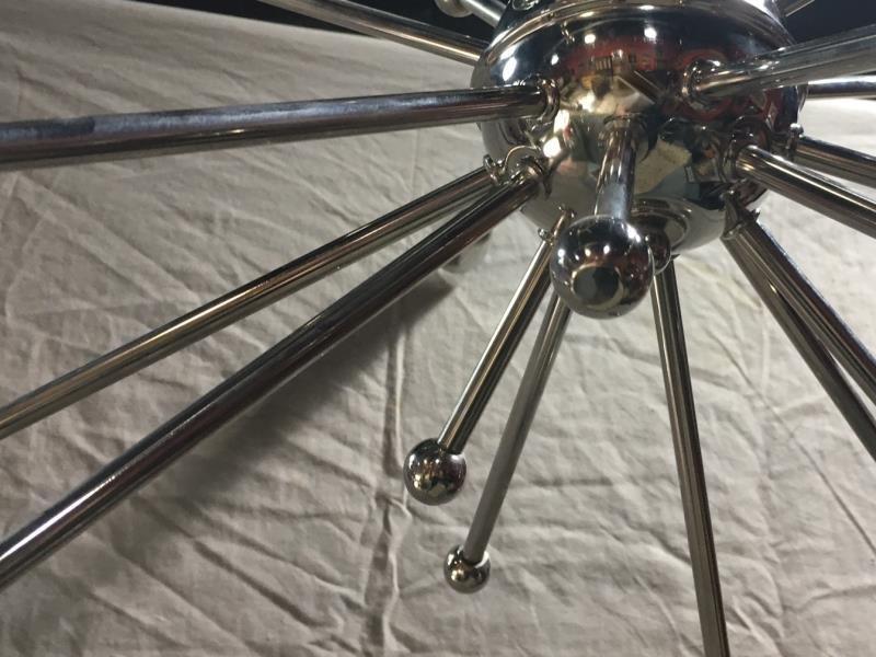 Large Chrome Sputnik Style Chandelier. - 2
