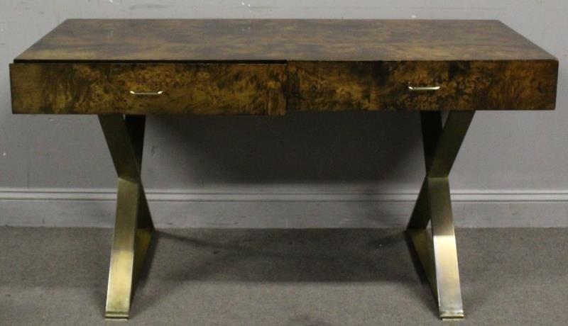 Midcentury Milo Baughman X Base Desk.