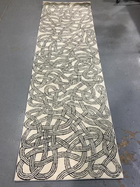 Modern Christopher Farr / Anni Albers Runner Carpet.