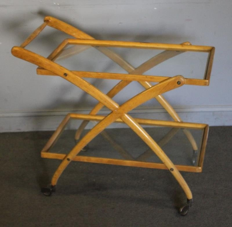 Midcentury Cassina Italian Bar / Tea Cart.