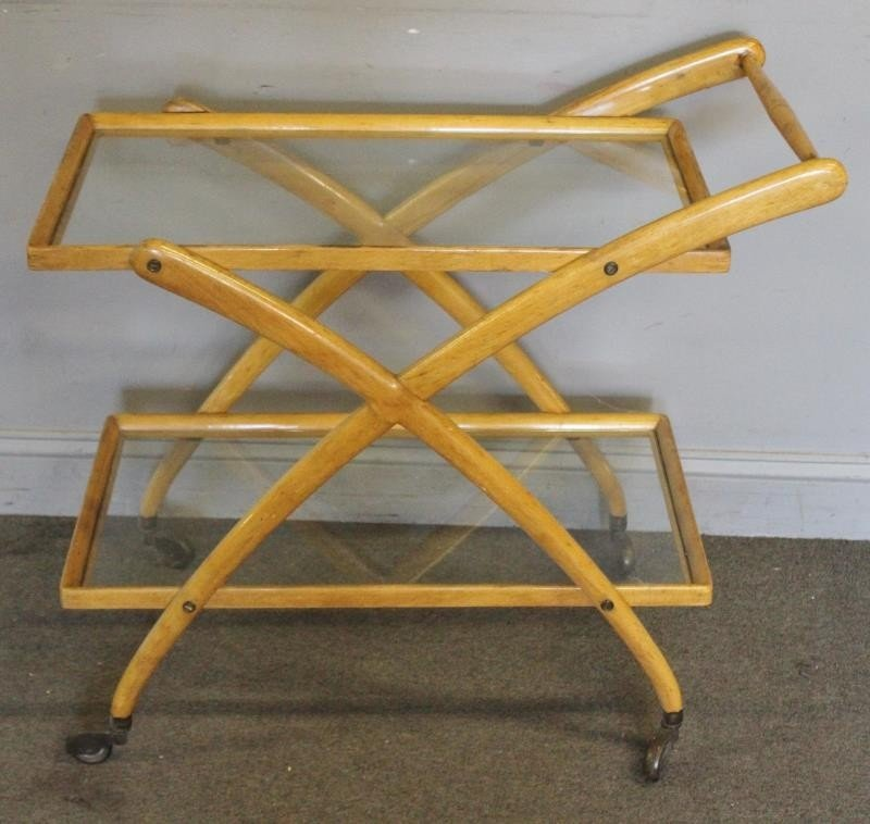 Midcentury Cassina Italian Bar / Tea Cart. - 3