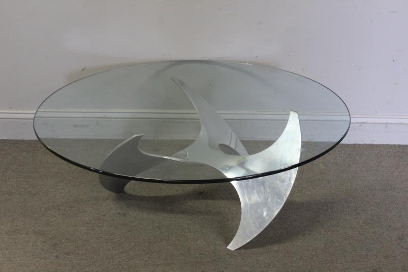 Midcentury Knut Hesterberg Propeller Coffee Table.